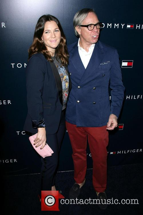 Drew Barrymore and Tommy Hilfiger 7