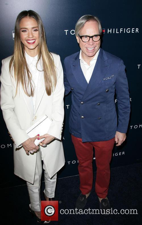 Jessica Alba and Tommy Hilfiger 5