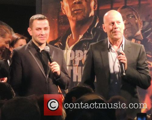 Bruce Willis and Jai Courtney at AMC theatre