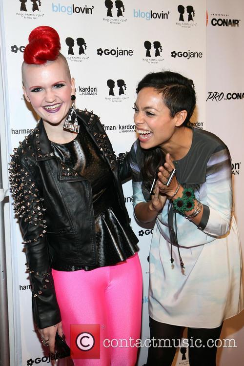 Erin Woods, Rosario Dawson, New York Fashion Week