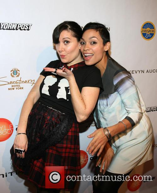 Stacy Igel and Rosario Dawson 2