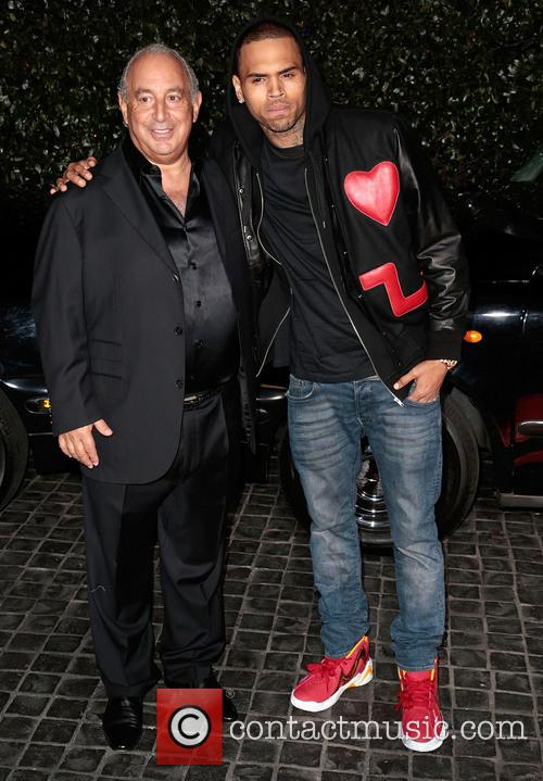 Sir Philip Green and Chris Brown 1