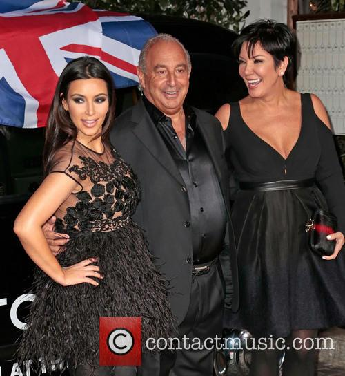 Kim Kardashian, Sir Philip Green and Kris Jenner 2