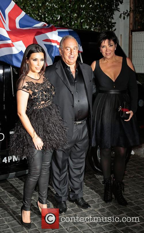 Kim Kardashian, Sir Philip Green and Kris Jenner 9