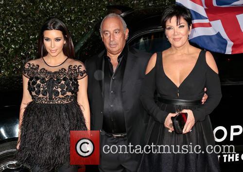 Kim Kardashian, Sir Philip Green, Kris Jenner
