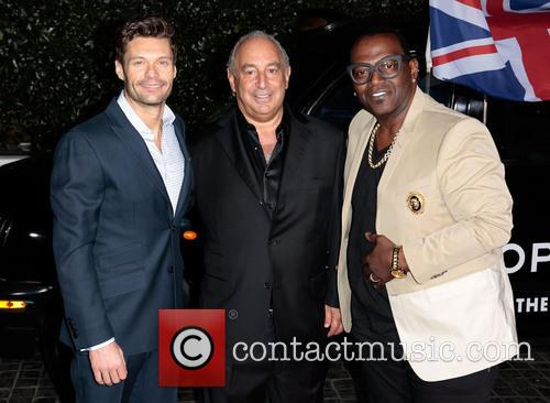 Ryan Seacrest, Sir Philip Green and Randy Jackson 2