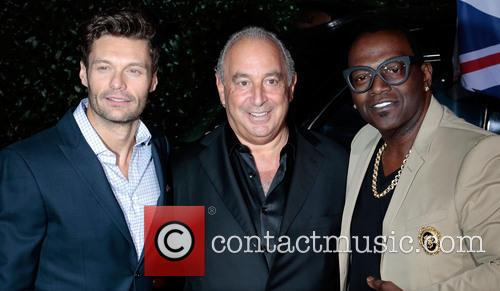 Ryan Seacrest, Sir Philip Green and Randy Jackson 3