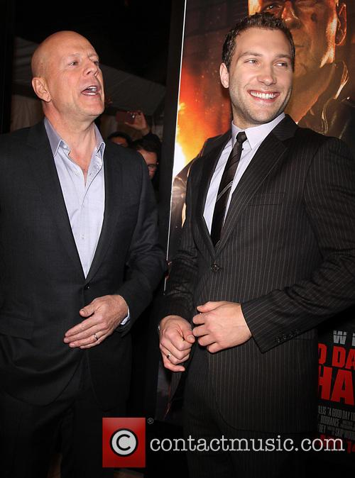 Bruce Willis, Jai Courtney, Good Morning America