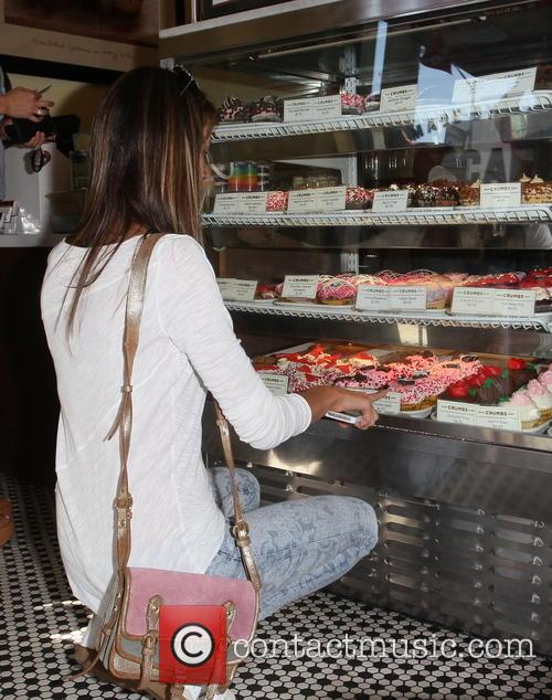 Alessandra Ambrosio and husband Jamie Mazur go shopping for Valentine's Day cupcakes
