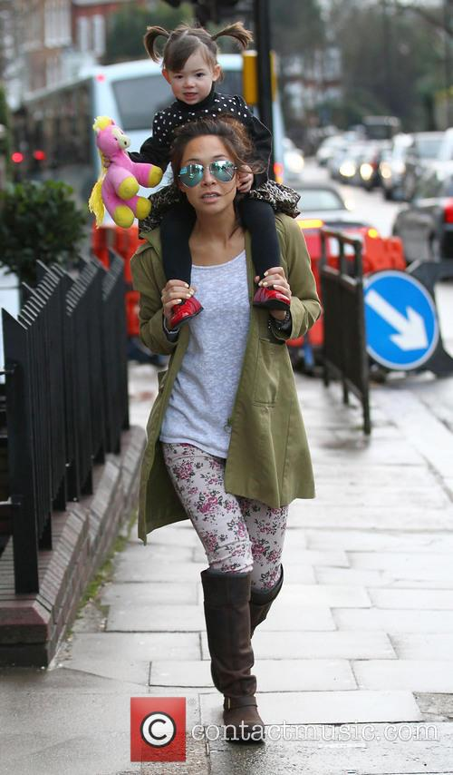Myleene Klass out with her daughters
