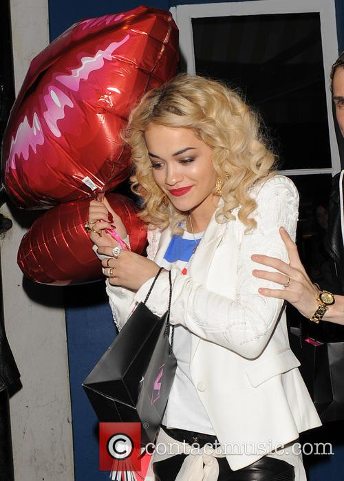 Rita Ora out on Valentines day