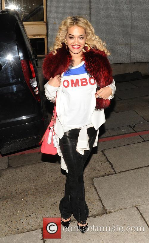 Rita Ora outside the London studios