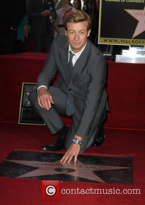 Simon Baker is honoured with a star on the Hollywood Walk of Fame