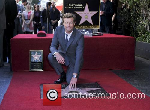 Simon Baker is honoured with a star on...