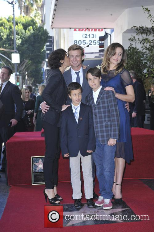 Simon Baker, wife Rebecca Rigg and family 3