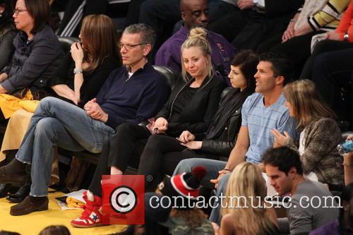 Celebrities watch the LA Lakers vs. Los Angeles...