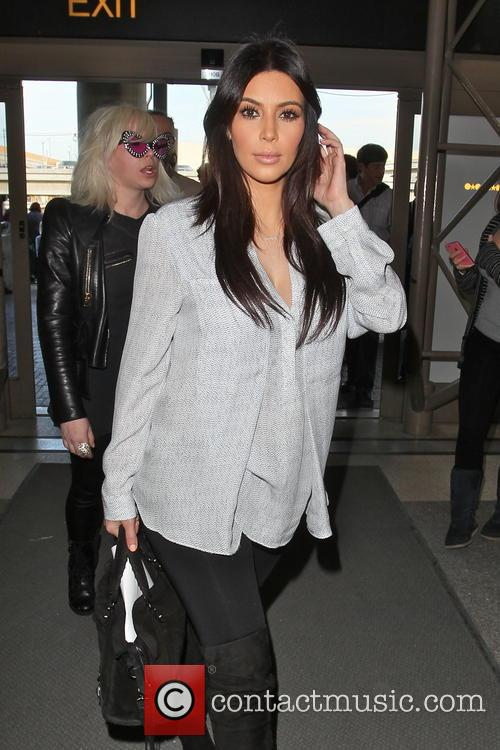 kim kardashian celebrities arriving at lax airport 3508896