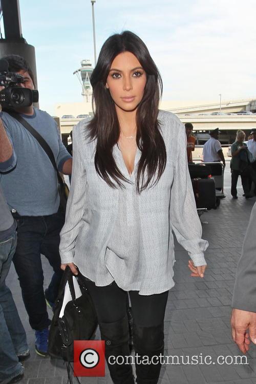 kim kardashian celebrities arriving at lax airport 3508906