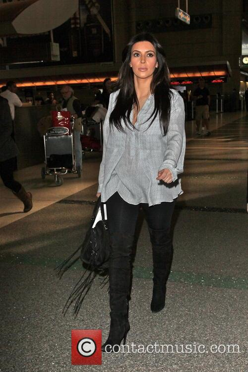 kim kardashian celebrities arriving at lax airport 3508908