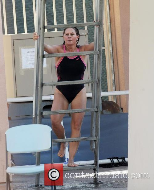 Celebrities practice their dives for the upcoming ABC...