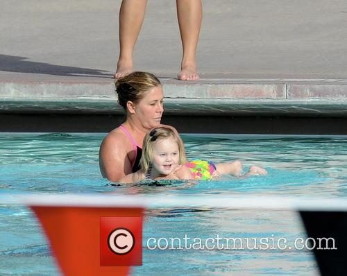 nicole eggert celebrities practice their dives for the 3510531