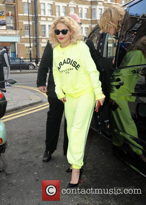 Rita Ora visits Flamin Eight Tattoo Studio