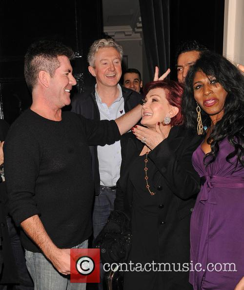 Simon Cowell and Sharon Osbourne 4
