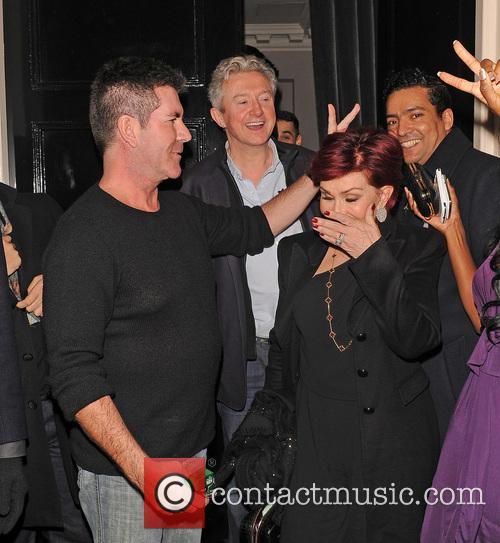 Simon Cowell and Sharon Osbourne 12