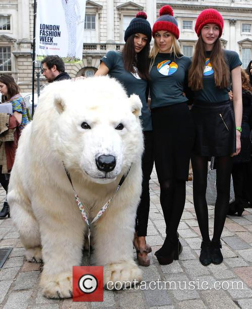 greenpeace arctic polar bear models london fashion week 3510312