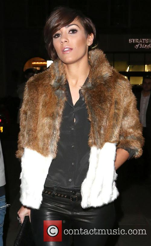 Frankie Sandford leaves the May Fair Hotel