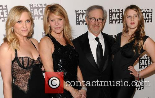 Kate Capshaw, Steven Spielberg and Jessica Capshaw 1