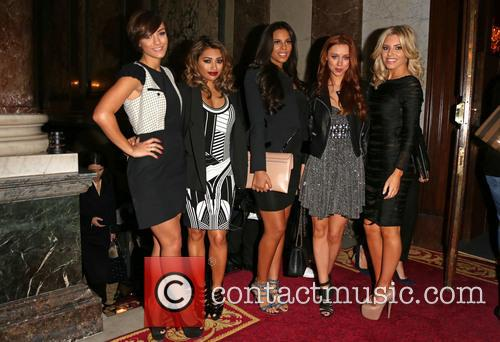 Frankie Sandford, Vanessa White, Rochelle Wiseman, Una Healy and Mollie King Of The Saturdays 1