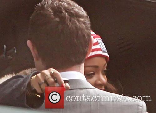 Rihanna arrives Heathrow Airport