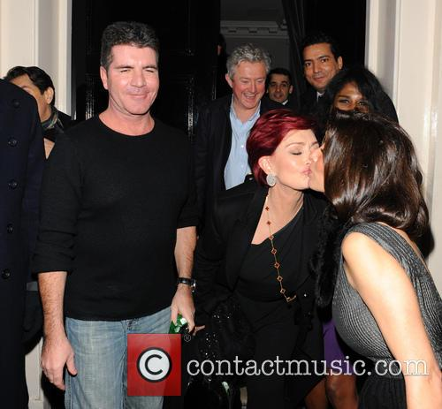 Sharon Osbourne, Simon Cowell, Louis Walsh, Sinitta and Mezhgan Hussainy 6