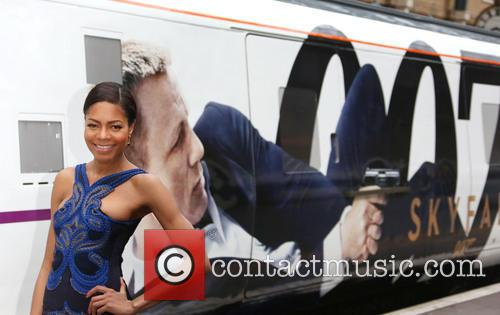 Naomie Harris unveils the Skyfall train at Kings...