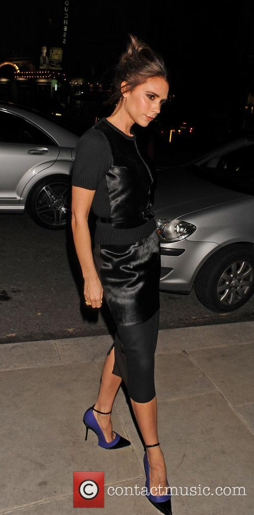 Victoria Beckham arrives at her hotel in a...