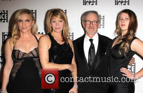 Jessica Capshaw, Kate Capshaw, Steven Spielberg and Sasha Spielberg 2