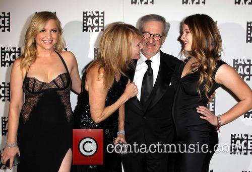 Jessica Capshaw, Kate Capshaw, Steven Spielberg and Sasha Spielberg 1