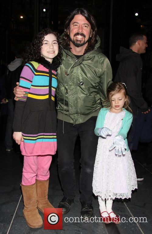 Dave Grohl, Lilla Crawford and Harper Grohl