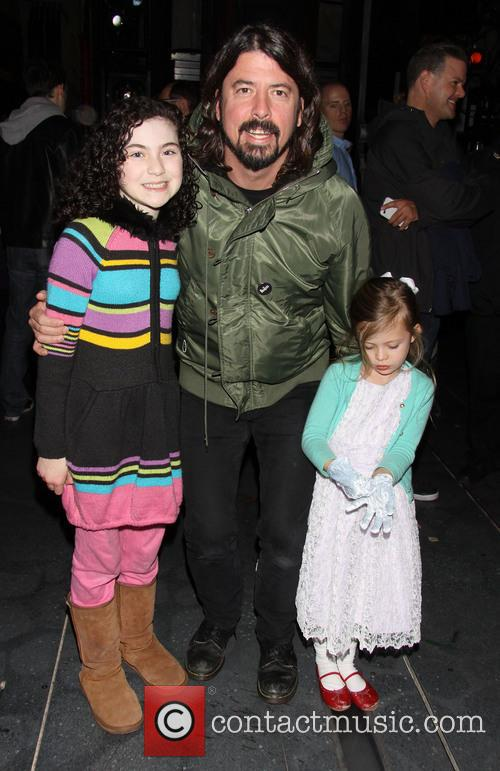 Lilla Crawford, Dave Grohl and Harper Grohl