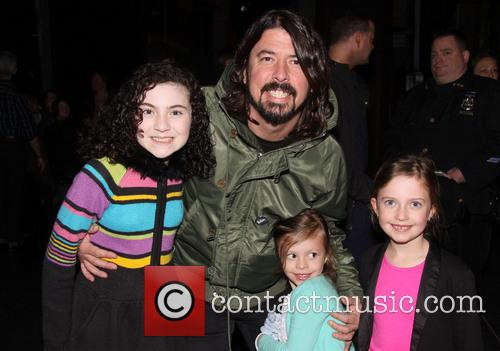 Lilla Crawford, Dave Grohl, Harper Grohl and Violet Grohl 3