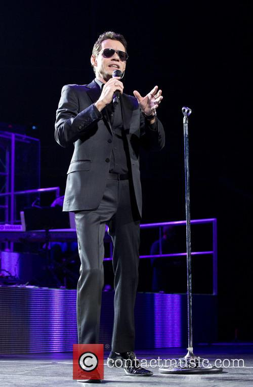 Marc Anthony performing at the Barclays Center Brookyln