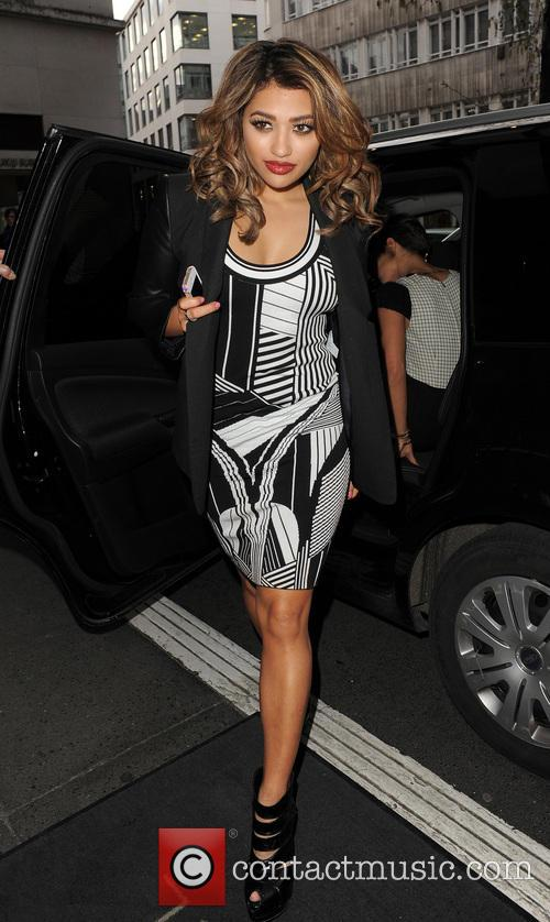 The Saturdays arriving back at their hotel