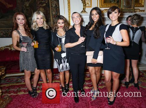 Rochelle Humes, Rochelle Wiseman, Frankie Sandford, Una Healy, Vanessa White, Mollie King, The Saturdays and Julien Mcdonald 1