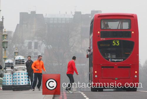 Filming, Westminster Bridge, Doctor Who, An Adventure and Time And Space 13