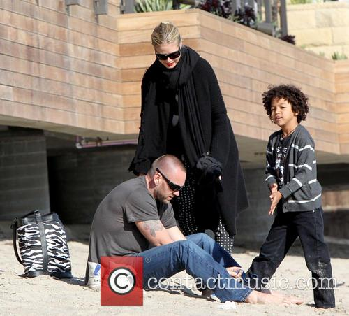 Martin Kristen, Johan Samuel and Heidi Klum 5