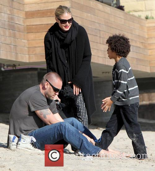Martin Kristen, Johan Samuel and Heidi Klum 6