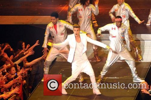 Justin Bieber performs at The O2