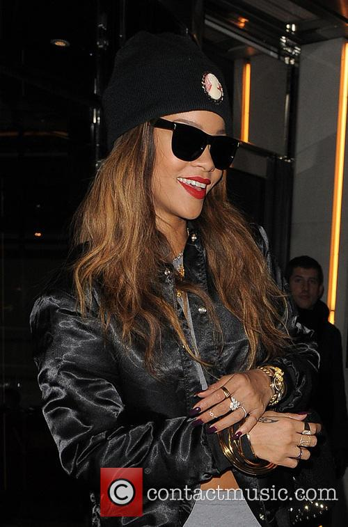 Rihanna leaving her hotel