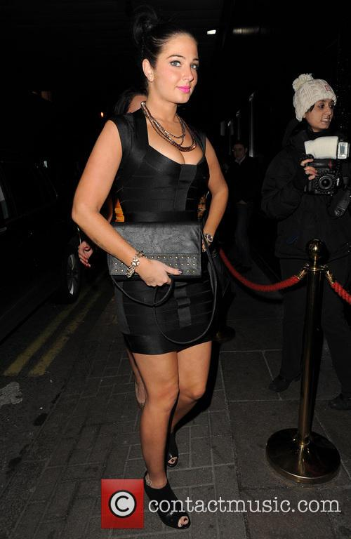 Tulisa arriving at Rose Club